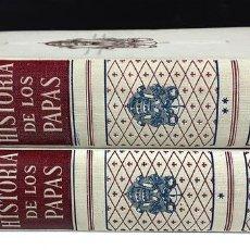Libros de segunda mano: HISTORIA DE LOS PAPAS. TOMOS I Y II. VARIOS AUTORES.EDITORIAL LABOR.1948.. Lote 89366480