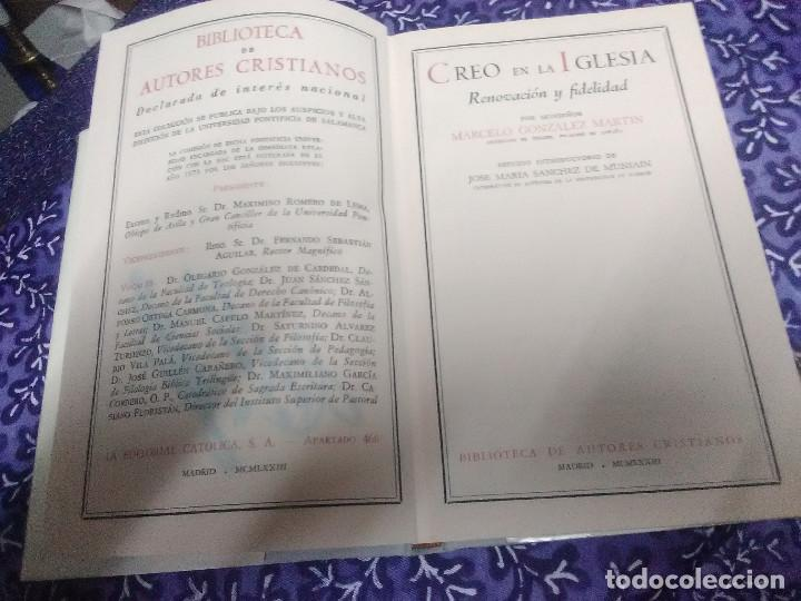 Libros de segunda mano: Creo en la Iglesia. Renovación y Fidelidad. Marcelo González Martín. BAC nº 341. 1973. - Foto 2 - 89793872