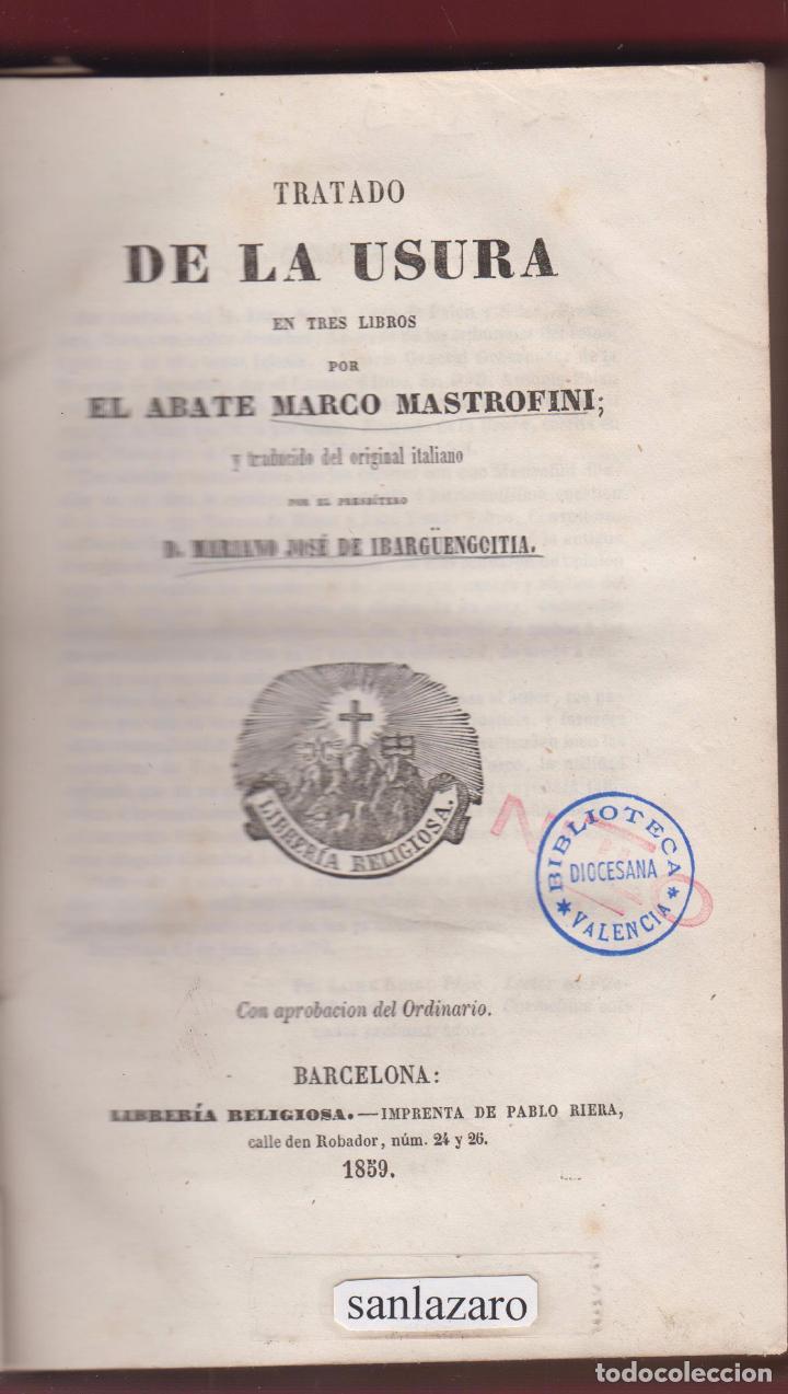 tratado de la usura abate marco mastrofini 407 - Comprar Libros de ...