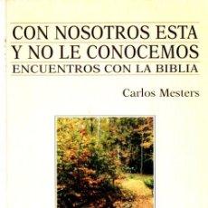 Libros de segunda mano: MESTERS : CON NOSOTROS ESTÁ Y NO LE CONOCEMOS (VERBO DIVINO, 1999) ENCUENTROS CON LA BIBLIA. Lote 90439399