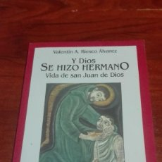 Libros de segunda mano: BIOGRAFIA SAN JUAN DE DIOS. Lote 90577145