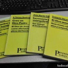 Libros de segunda mano: PRESENCIA TEOLÓGICA / LOTE CON 4 LIBROS: EL DIOS AUSENTE, CREO EN DIOS PADRE, ... / SAL TERRAE. Lote 150749098