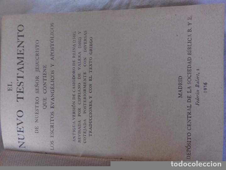 Libros de segunda mano: NUEVO TESTAMENTO-DEPOSITO CENTRAL DE LA SOCIEDAD BIBLICA B. Y E.-AÑO 1936 - Foto 3 - 91402250