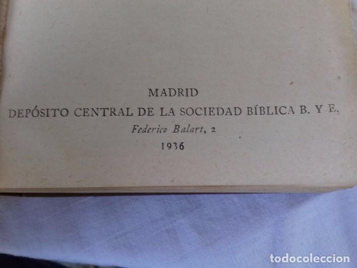 Libros de segunda mano: NUEVO TESTAMENTO-DEPOSITO CENTRAL DE LA SOCIEDAD BIBLICA B. Y E.-AÑO 1936 - Foto 4 - 91402250