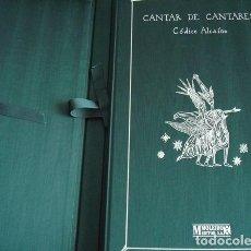 Libros de segunda mano: CANTAR DE CANTARES, CÓDICE ALCAÍNS, 1999. Lote 91836830