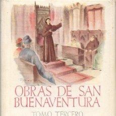 Libros de segunda mano: OBRAS DE SAN BUENAVENTURA TOMO II : CAMINO DE LA SABIDURÍA (AUTORES CRISTIANOS, 1947) BILINGÜE. Lote 93394810