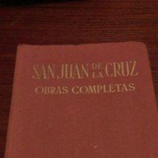 Libros de segunda mano: OBRAS COMPLETAS SAN JUAN DE LA CRUZ. Lote 93717530