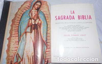 Libros de segunda mano: SAGRADA BIBLIA GUADALUPANA, TRADUCIDA DE LA VULGATA LATINA AL ESPAÑOL POR FÉLIX TORRES AMAT, 1965 - Foto 3 - 94438570