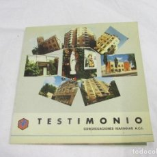 Libros de segunda mano: TESTIMONIO CONGREGACIONES MARIANAS #. Lote 95297099