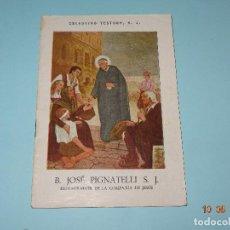 Libros de segunda mano: SANTOS Y BEATOS DE LA COMPAÑÍA DE JESÚS - B. JOSÉ PIGNATELLI S. J. DE 1943 CELESTINO TESTORE S. J.. Lote 95301119
