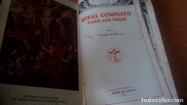 MISAL COMPLETO PARA LOS FIELES - 1946 - BUEN ESTADO - ENCUADERNACIÓN PIEL ..... ZXY (Libros de Segunda Mano - Religión)