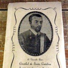 Libros de segunda mano: LIBRO VIDA DEL VENERABLE CRISTOBAL DE SANTA CATALINA, 1955. Lote 96084375