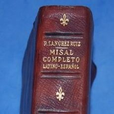 Libri di seconda mano: MISAL COMPLETO LATINO-ESPAÑOL 1963. Lote 96191287