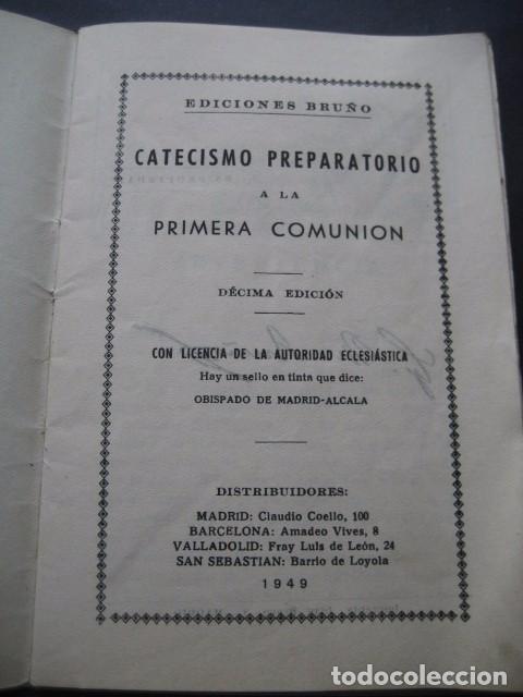 Libros de segunda mano: CATECISMO PREPARATORIO A LA PRIMERA COMUNION. ED. BRUÑO 1949 - Foto 3 - 96895963