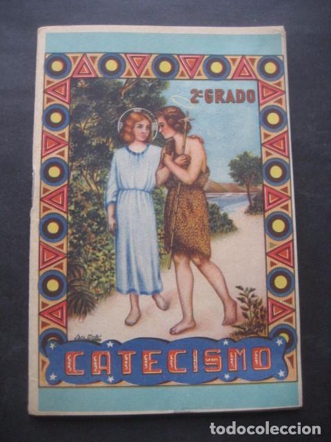 CATECISMO DOCTRINA CRISTIANA. SEGUNDO GRADO 1950. COMISION CATEQUISTICA ZARAGOZA (Libros de Segunda Mano - Religión)
