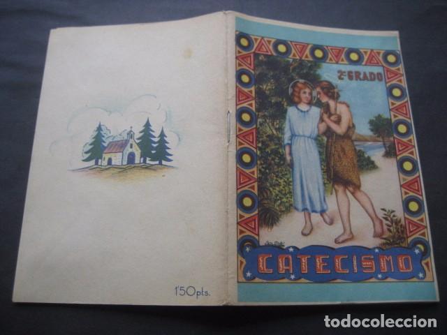 Libros de segunda mano: CATECISMO DOCTRINA CRISTIANA. SEGUNDO GRADO 1950. COMISION CATEQUISTICA ZARAGOZA - Foto 2 - 96896387
