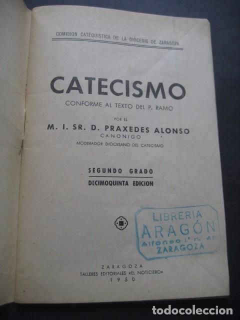 Libros de segunda mano: CATECISMO DOCTRINA CRISTIANA. SEGUNDO GRADO 1950. COMISION CATEQUISTICA ZARAGOZA - Foto 3 - 96896387