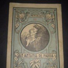 Libros de segunda mano: REVISTA EL MENSAJERO DE SAN ANTONIO DE PADUA, ENERO 1942. PADRES CAPUCHINOS ZARAGOZA. Lote 97005491