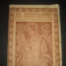 Libros de segunda mano: REVISTA EL MENSAJERO DE SAN ANTONIO DE PADUA, DICIEMBRE 1945. PADRES CAPUCHINOS ZARAGOZA. Lote 97005631
