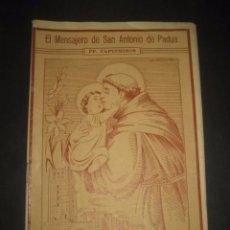 Libros de segunda mano: REVISTA EL MENSAJERO DE SAN ANTONIO DE PADUA, ENERO 1950. PADRES CAPUCHINOS ZARAGOZA. Lote 97005719