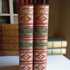 Libros de segunda mano: OBRAS DE SANTA TERESA DE JESÚS (DOS TOMOS) - EDICIONES ANTIGUAS - BARCELONA (1982). Lote 97110371