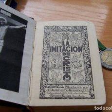 Libros de segunda mano: IMITACIÓN DE CRISTO, DE KEMPIS. TRADUCCION NIEREMBERG. EDITORIAL REGINA 1947 LIBRO MINIATURA. Lote 97266007
