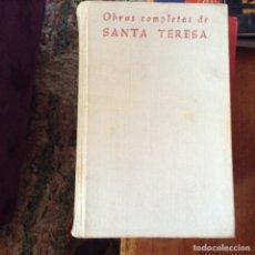 Libros de segunda mano: OBRAS COMPLETAS . SANTA TERESA DE JESÚS. Lote 97607010