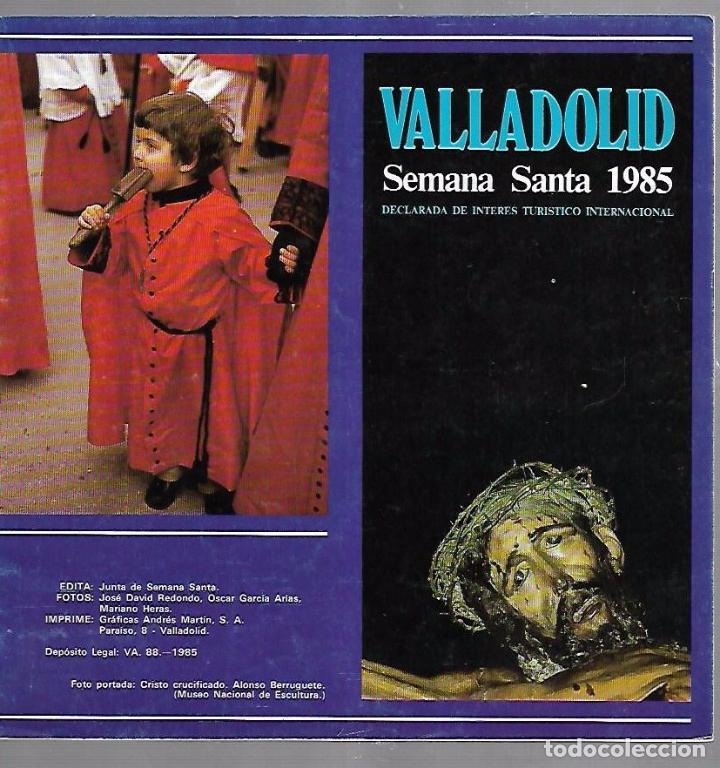 VALLADOLID. SEMANA SANTA 1985. CAJA RURAL PROVINCIAL (Libros de Segunda Mano - Religión)