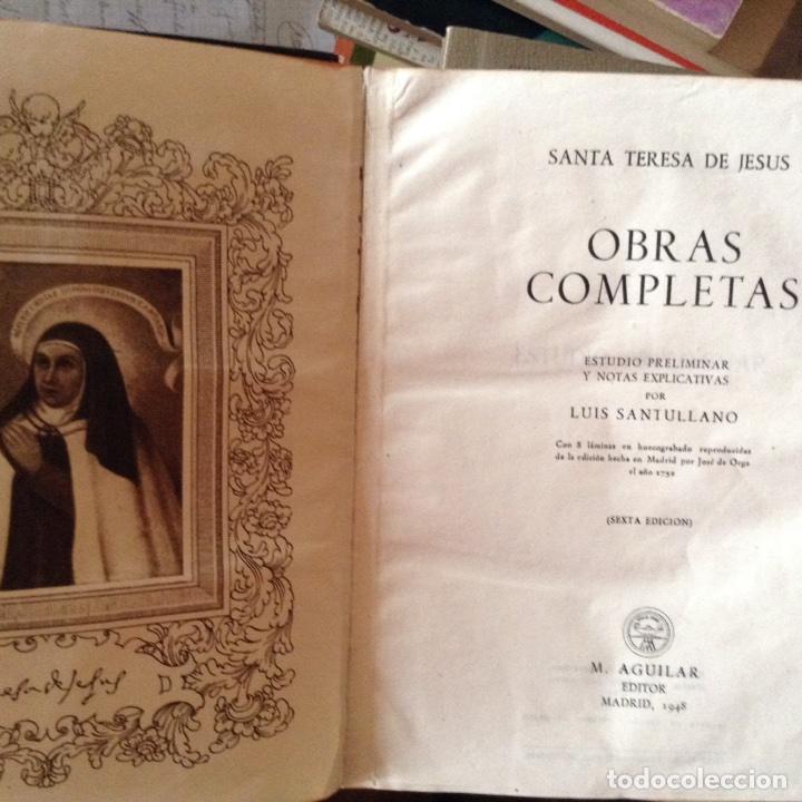 Libros de segunda mano: Obras completas . Santa Teresa. 1.948. Aguilar - Foto 2 - 97772732