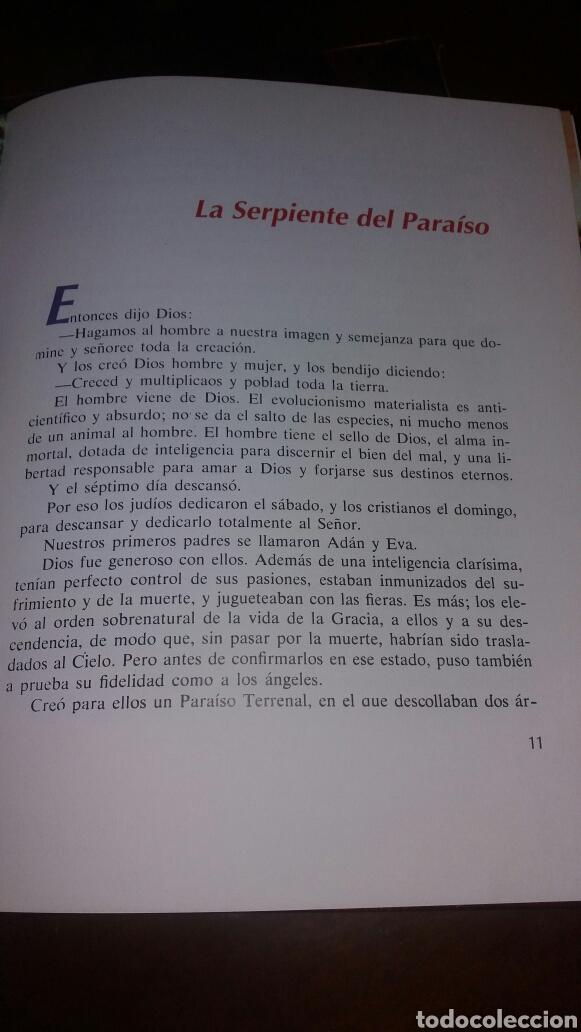 Libros de segunda mano: BIBLIA JUVENIL DOS TOMOS ENCUADERNADOS EN PIEL - Foto 5 - 97984338