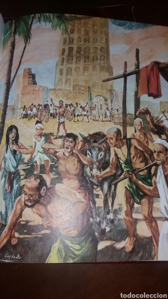 Libros de segunda mano: BIBLIA JUVENIL DOS TOMOS ENCUADERNADOS EN PIEL - Foto 6 - 97984338