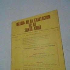 Libros de segunda mano: IGLESIA DE LA EXALTACIÓN DE LA SANTA CRUZ - ZARAGOZA - BOLETÍN INFORMATIVO Nº 37. Lote 98984807