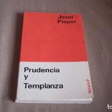 Libros de segunda mano: PRUDENCIA Y TEMPLANZA - JOSEPH PIEPER. Lote 99342419