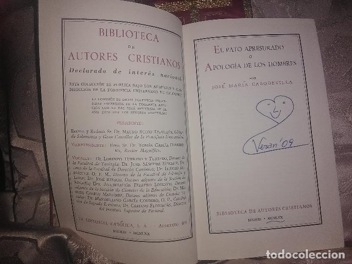 Libros de segunda mano: El Pato apresurado o apología de los hombres. JM. Cabodevilla. BAC nº 301. 1970. - Foto 2 - 99768555