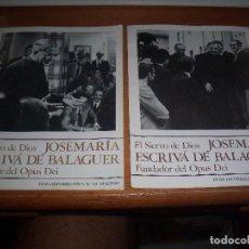 Libros de segunda mano: 2 LIBRILLOS HOJA INFORMATIVA Nº 10 Y 8. EL SERVIO DE DIOS JOSEMARIA ESCRIVA DE BALAGUER. . Lote 100157835