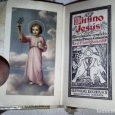 Libros de segunda mano: DEVOCIONARIO DE COMUNIÓN DE 1955 DIVINO JESÚS POR EL PADRE LUÍS RIBERA, ED. REGINA 8A EDICIÓN. Lote 100750075