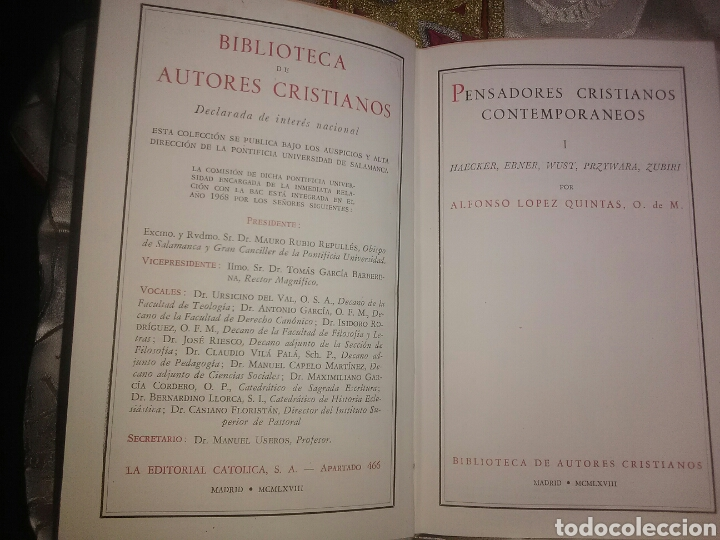 Libros de segunda mano: Pensadores cristianos contemporáneos. A. López Quintas. BAC, n. 274. 1968. - Foto 2 - 100770536