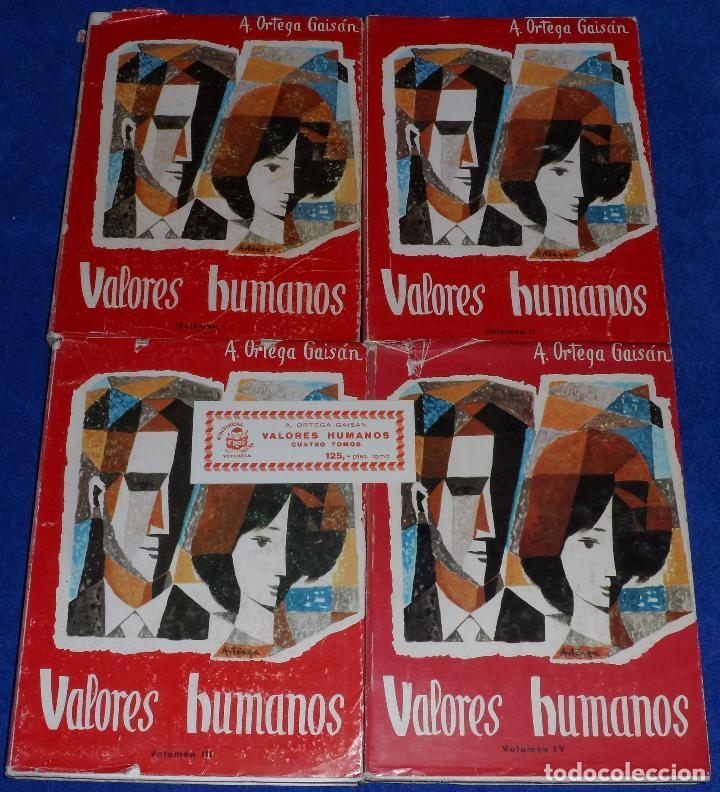 VALORES HUMANOS - A.ORTEGA GAISAN - EDITORIAL EROS (1966) (Libros de Segunda Mano - Religión)