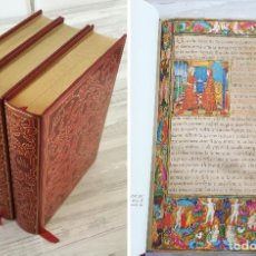 Libros de segunda mano: LA SAINTE BIBLE - SANTA BIBLIA - ED. LIMITADA, NUMERADA E ILUSTRADA. 355 MINIATURAS, CODEX DE PREDIS. Lote 102150487