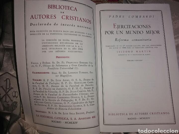 Libros de segunda mano: Ejercitaciones por un mundo mejor. P. Lombardi. BAC, n. 216. 1964. 3 Ed. - Foto 2 - 102268771