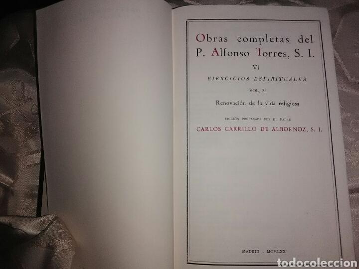 Libros de segunda mano: Obras Completas del P. A. Torres (Vol 6): Ejercicios Espirituales, 2. BAC, 1970. - Foto 2 - 102469363