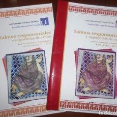 Libros de segunda mano: LIBROS SALMOS RESPONSORIÁLES Y SUGERENCIAS DE CANTOS. Lote 103985695