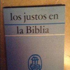Libros de segunda mano: LOS JUSTOS EN LA BIBLIA (2) - A. JANSE -. Lote 105270623