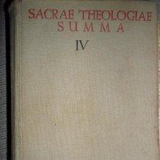 Libros de segunda mano: SACRAE THEOLOGIAE SUMMA IV, ED. BIBLIOTECA DE AUTORES CRISTIANOS. Lote 105746859