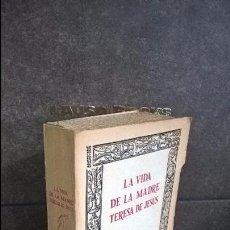 Libros de segunda mano: LA VIDA DE LA MADRE TERESA DE JESUS. GUILLELMO FOQUEL. EN SALAMANCA 1970 ESPASA-CALPE. FACSIMIL.. Lote 105897751