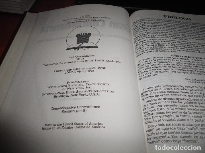 Libros de segunda mano: GRAN CORCONDANCIA TRADUCCION DEL NUEVO MUNDO DE LAS SANTAS ESCRITURAS TESTIGOS JEHOVA WATCH TOWER - Foto 2 - 106016791