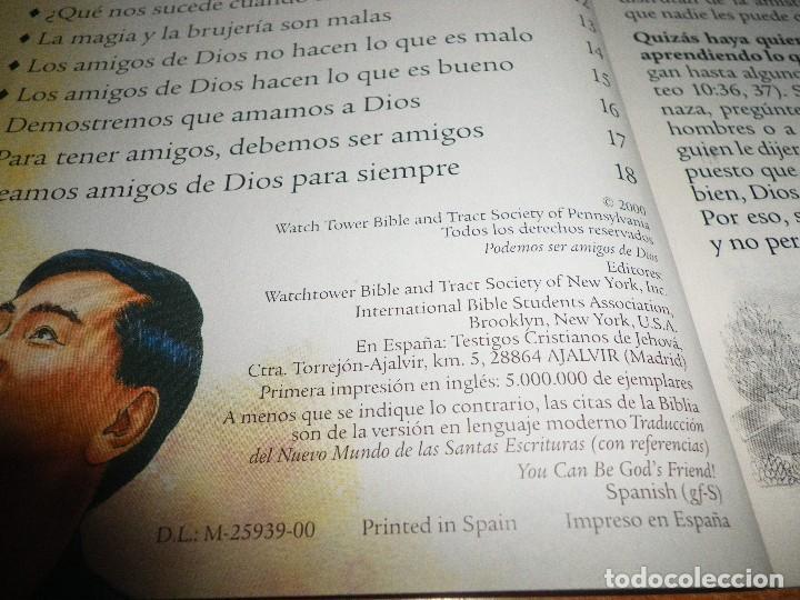 Libros de segunda mano: PODEMOS SER AMIGOS DE DIOS FOLLETO 2000 ESPAÑA 32 PAGINAS WACHT TOWER TESTIGOS DE JEHOVA - Foto 2 - 106017435