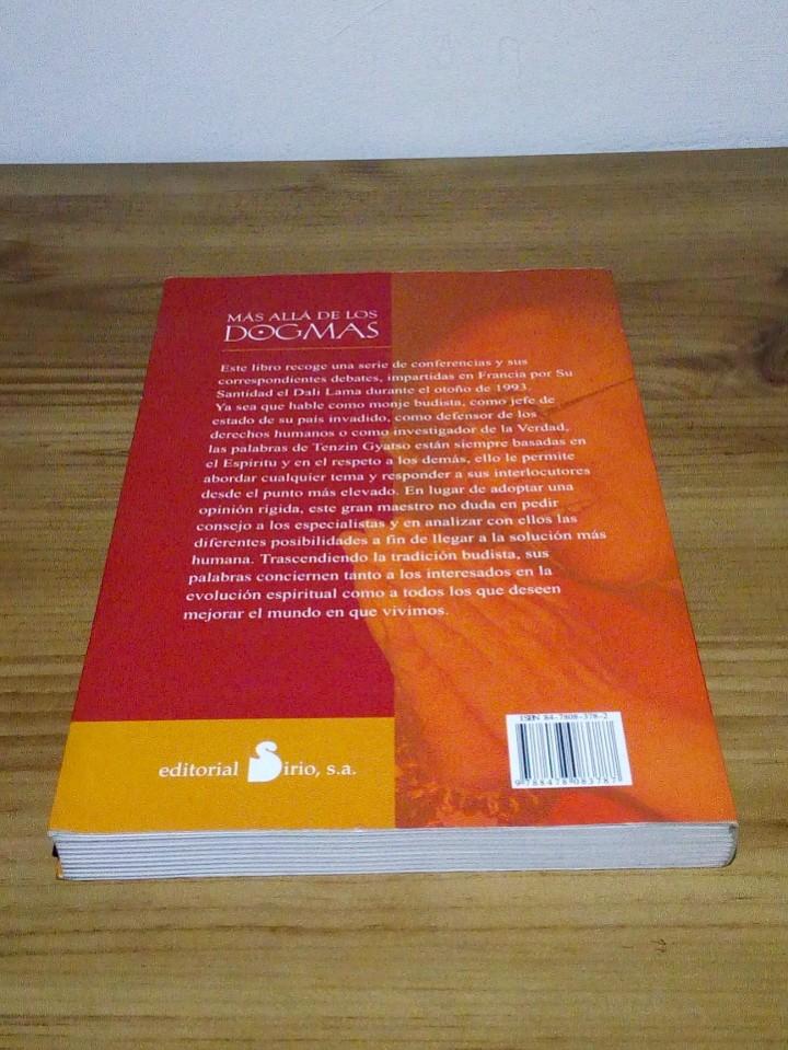 Libros de segunda mano: MÁS ALLÁ DE LOS DOGMAS. DALAI LAMA XIV, Vivencias espirituales. 1 ª ed. 2001 - Foto 3 - 103351075