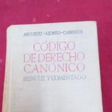 Libros de segunda mano: CÓDIGO DE DERECHO CANÓNICO. MIGUÉLEZ ALONSO CABREROS.. Lote 106581080