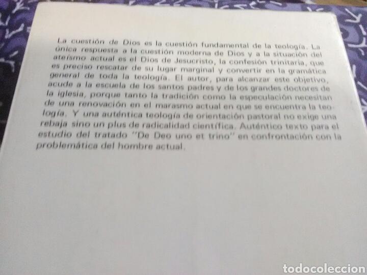 Libros de segunda mano: El Dios de Jesucristo. W. Kasper. Eds. Sígueme, 1985. - Foto 2 - 107763444